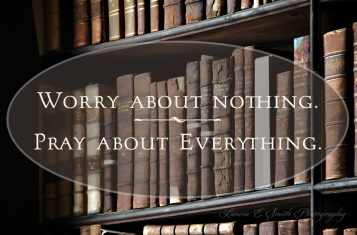 Trinity College Library Detail - Do not Worry - Pray