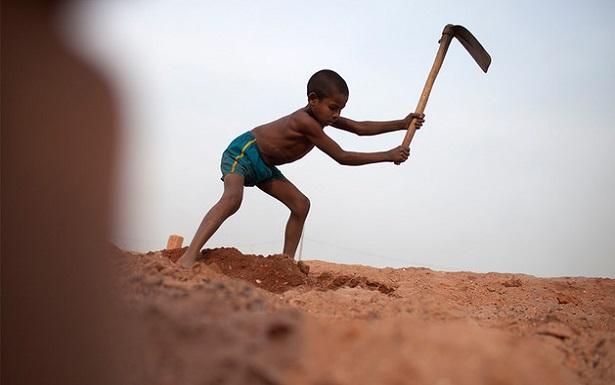 Работа детей в Гане