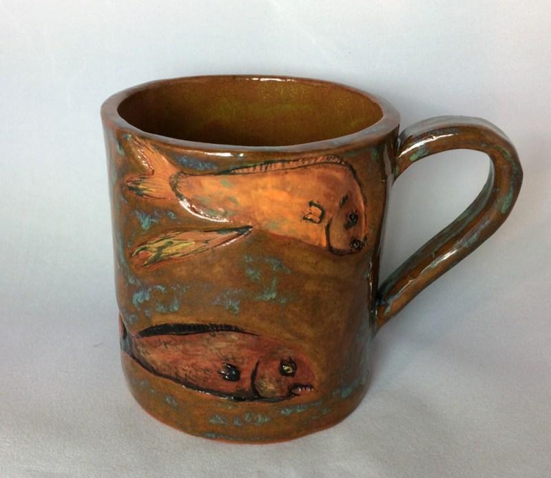 Fish mug. SOLD.
