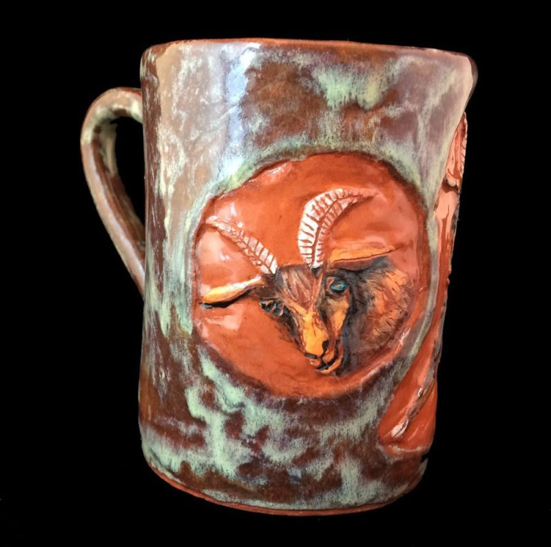 Goat mug. SOLD.