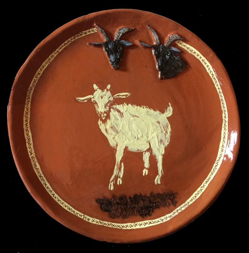 Goat plate, commission.