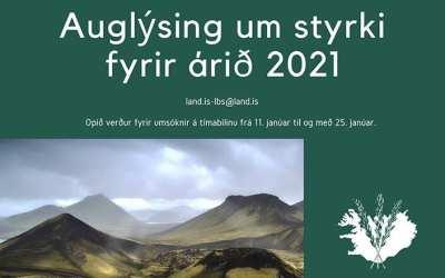 Auglýsing um styrki fyrir Landbótasjóð 2021