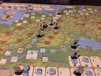 Montclam to start an offensive against weakened British. Did not get very far, but far enough to win the war.
