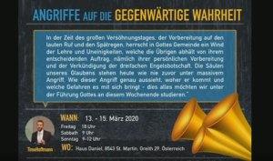 Veranstaltung Österreich März 2020