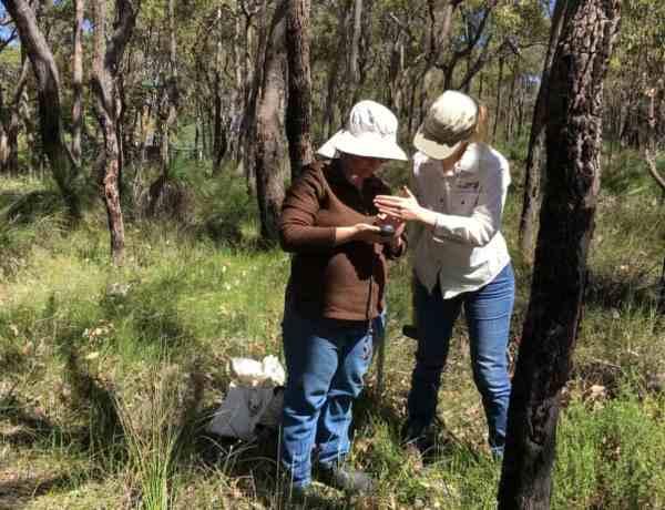 two women in bushland