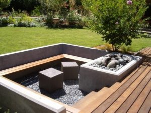 modern and simple backyard landscaping