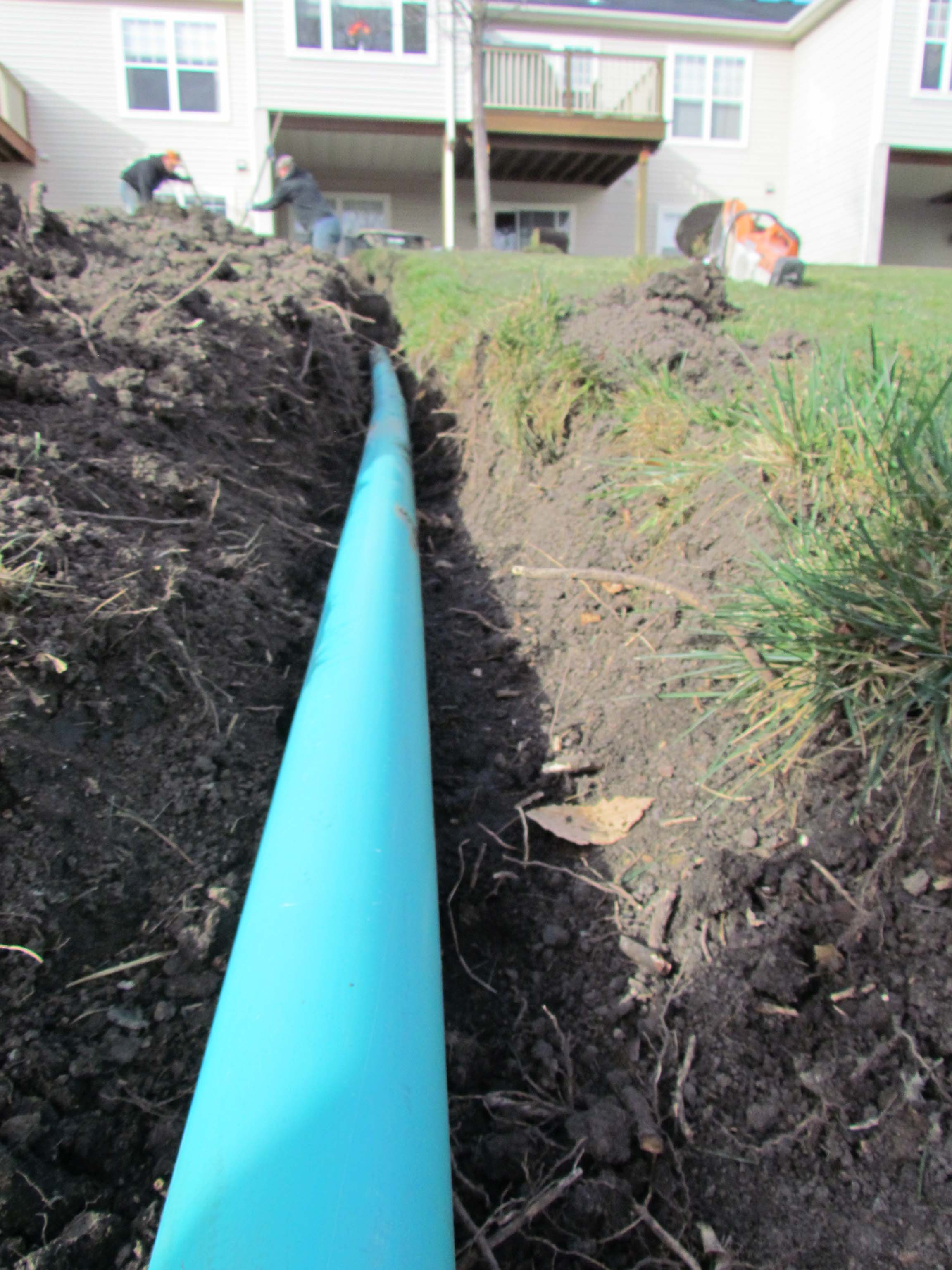 french drain contractor landscape drainage solutions for