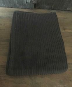 Handdoek donker grijs