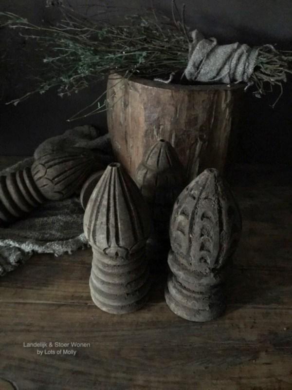 Klos hout bewerkt