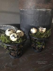 Smeedijzeren waxine mandje, afkomstig uit India