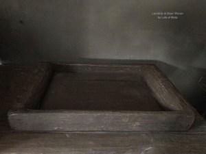 Grote oud houten rechthoekige bak van Aura Peeperkorn