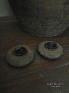 Leuk klein houten waxinehoudertje van Aura Peeperkorn