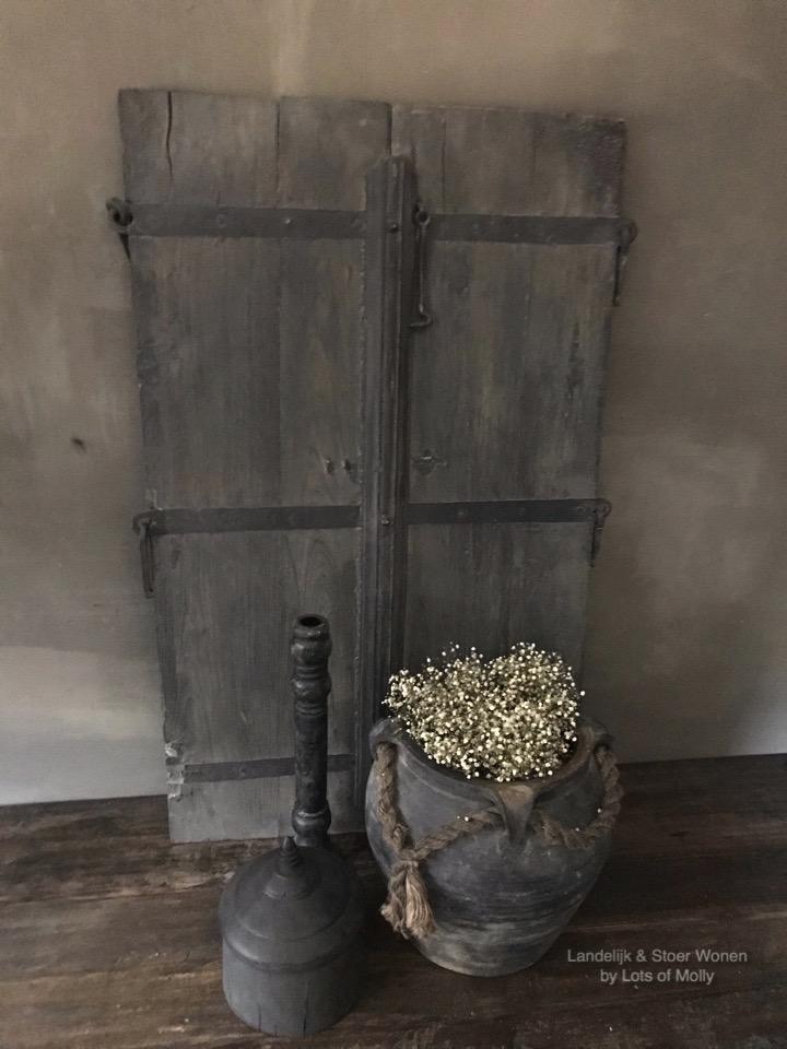 Origineel oud houten luik Aura Peeperkorn