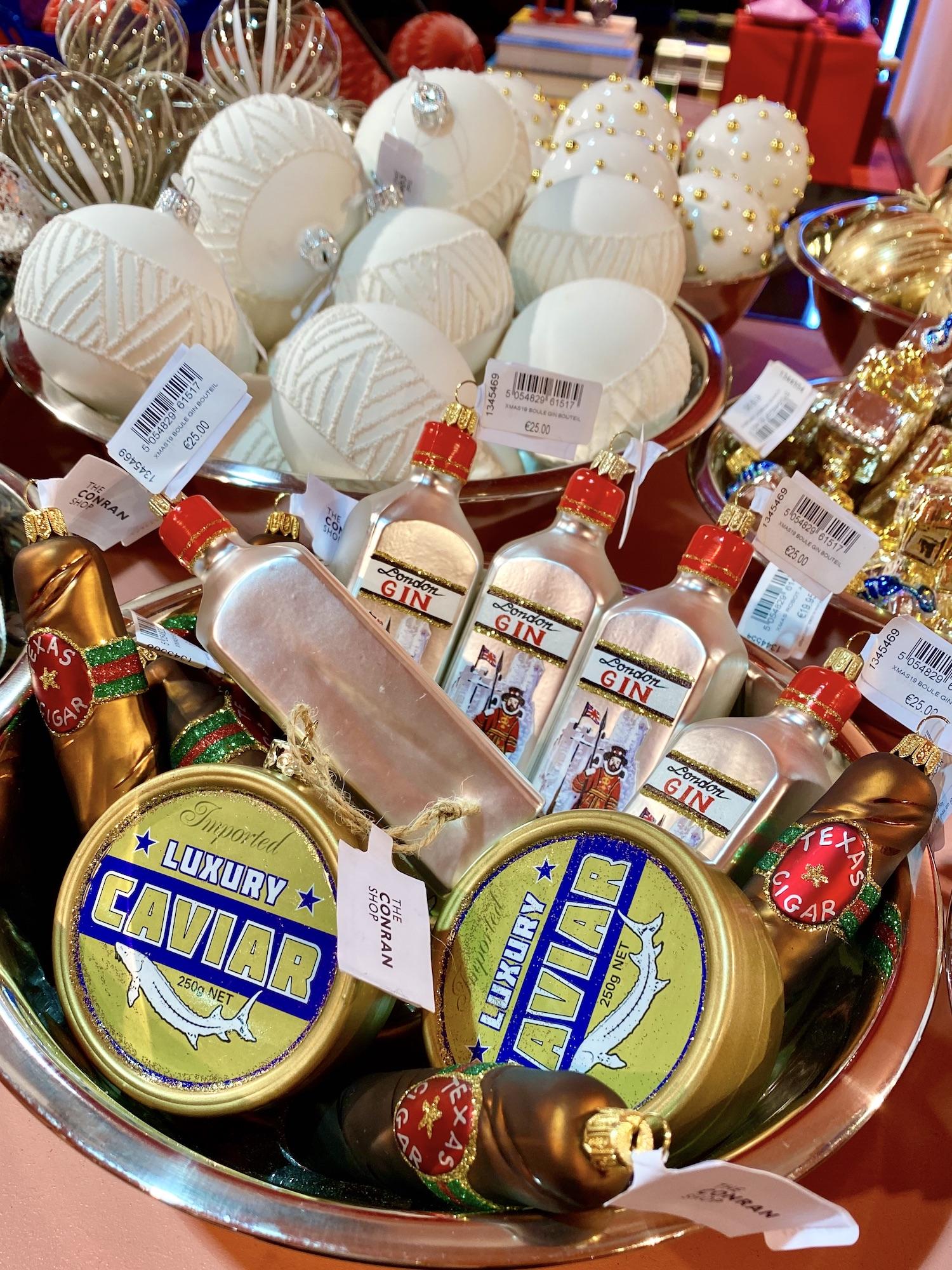Conran Shop Caviar Gin Ornament