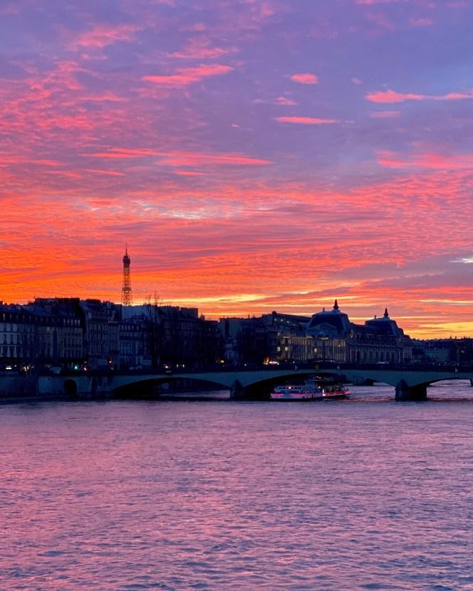 Five Friday Finds from France Sunset at Pont des Arts