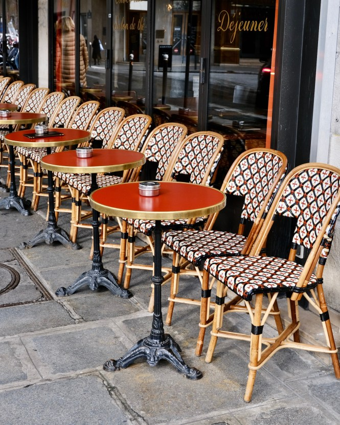 Traveling Alone in Paris Café Chairs