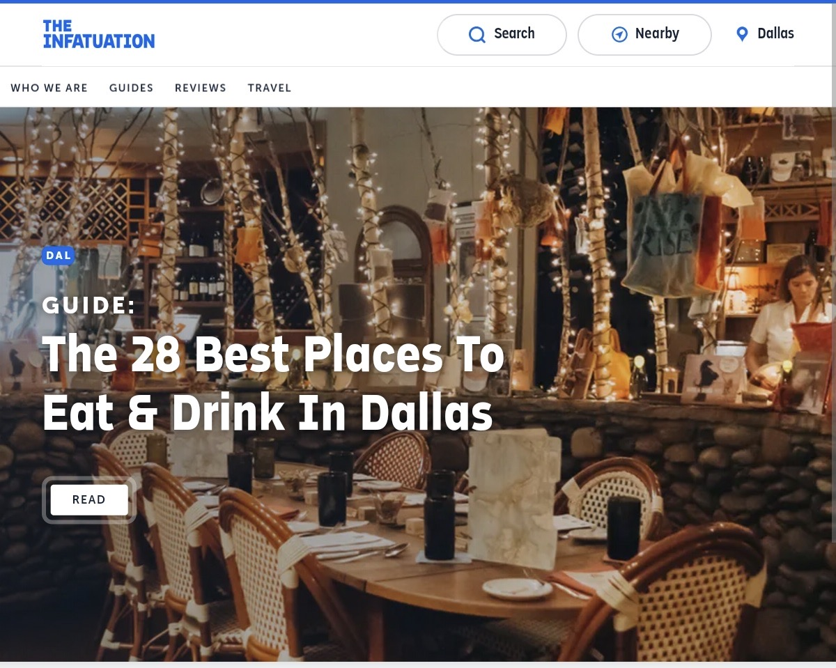 The Infatuation Dallas City Guide