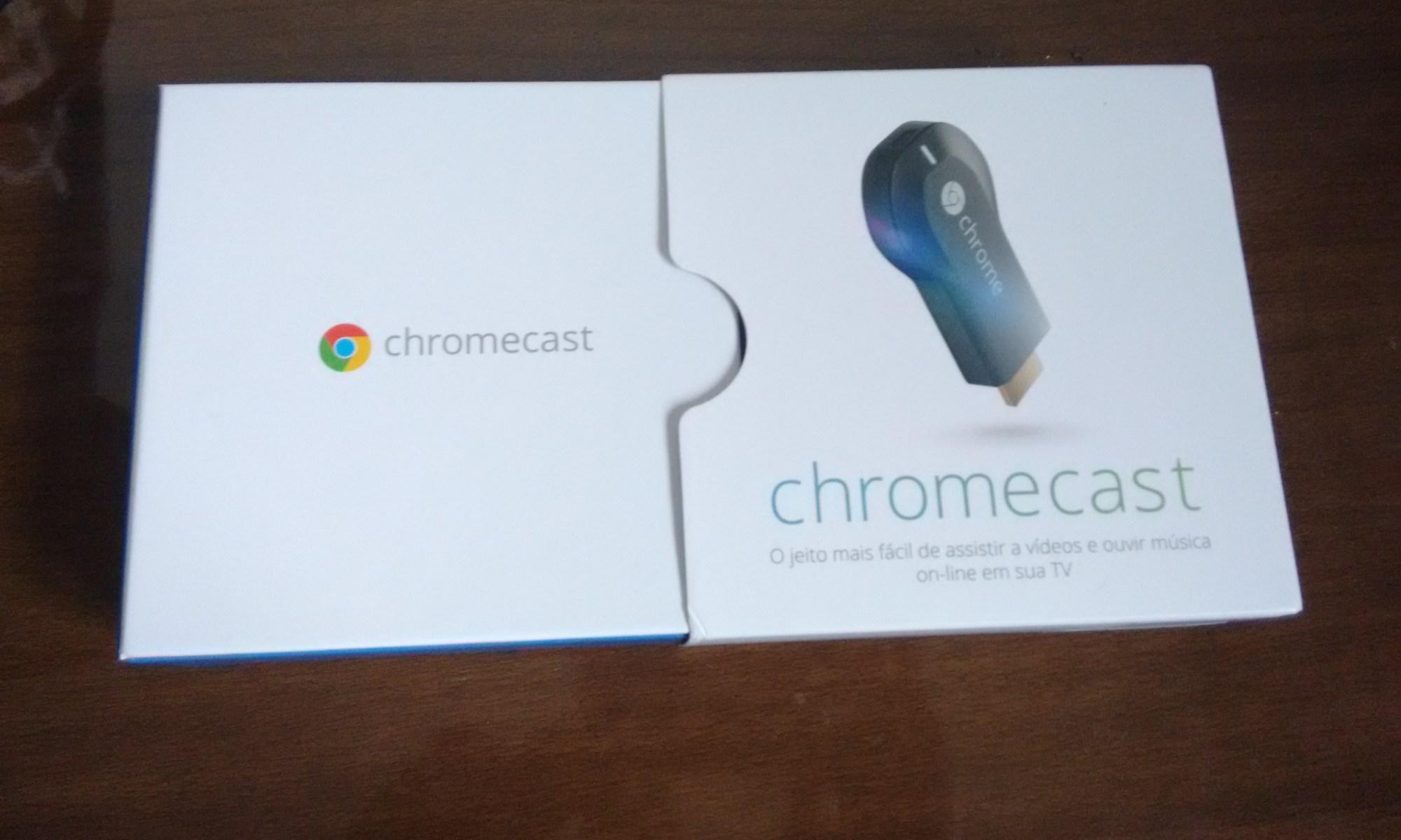 Desempacotando o Chromecast