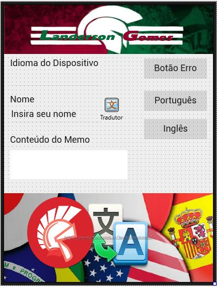 Aparência Aplicação Multi idiomas