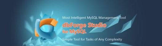 Banner dbForge Studio for MySQL