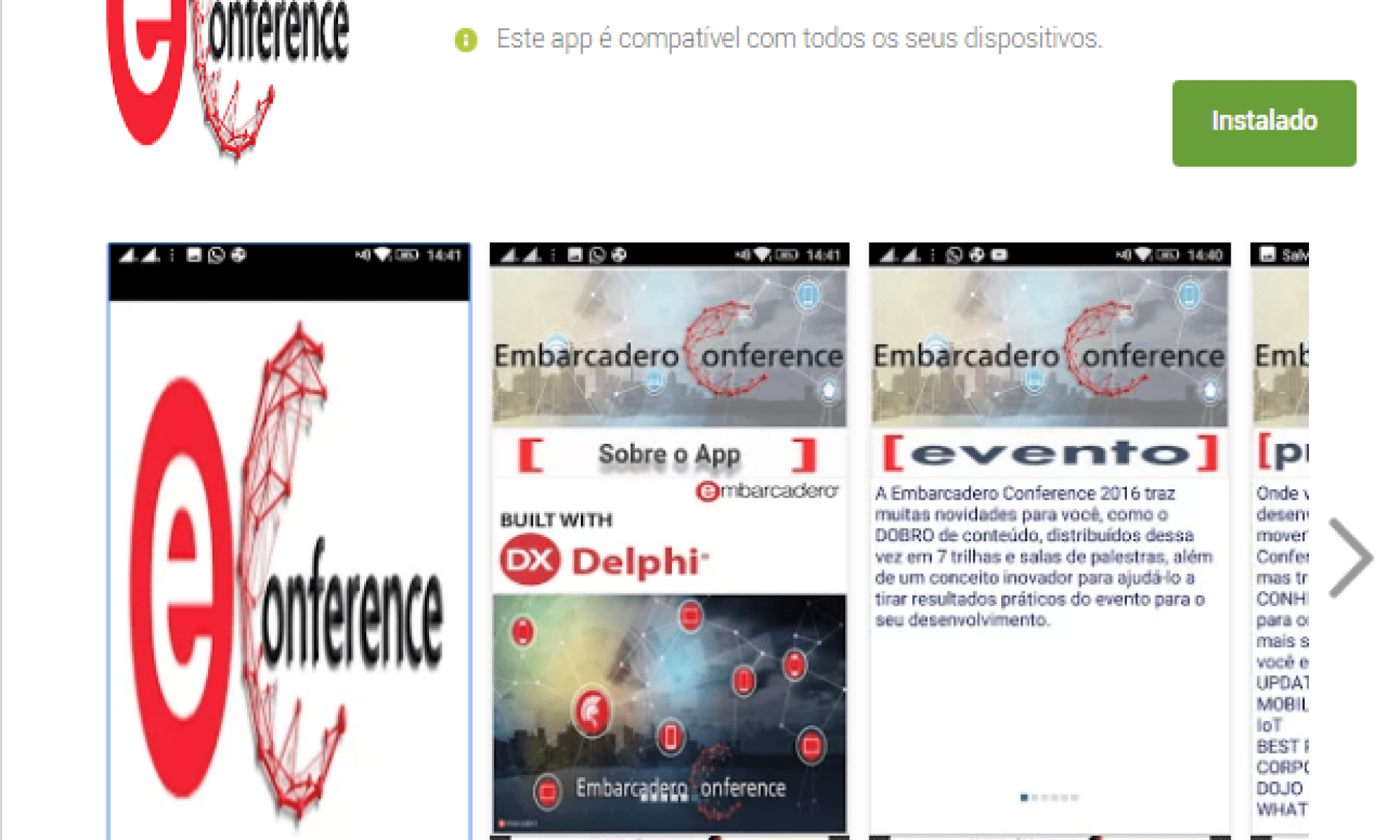 App Embarcadero Conference - Google Play