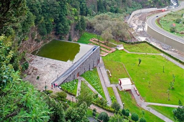 volcano pavillion and water gardens
