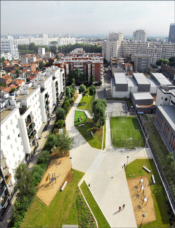 asnires residential park espace