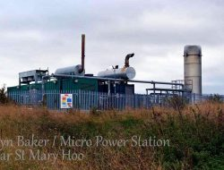 Image of a landfill gas power plant.