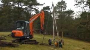 A small percussion borehole drill for landfill gas migration.