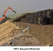 One use of PAS 108 Tyre Bales (Pevensey, UK)