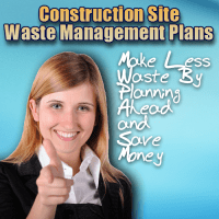 Image shows Integrated Sustainable Waste Management and via construction site waste management plans.