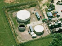 An Aerial View of a Leachate Treatment Plant Used to Prevent Water Pollution