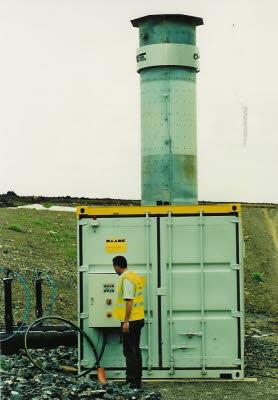 permanent landfill gas flare