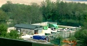 Household Waste Site built on a landfill