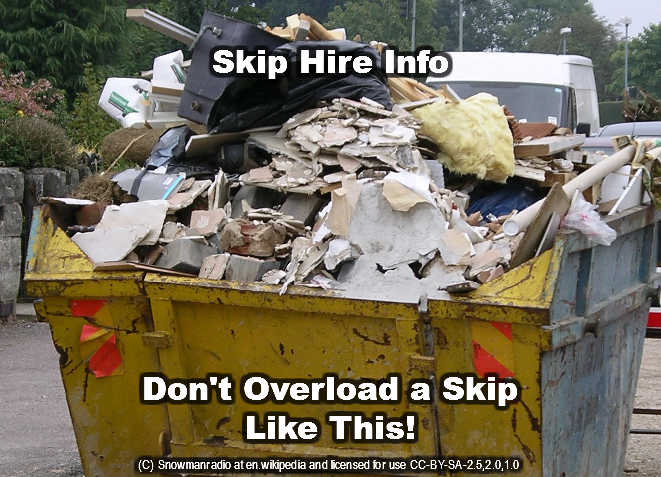 landfill skip hire do not overload