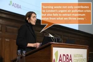 ADBA presentation on the disadvantages of burning MSW