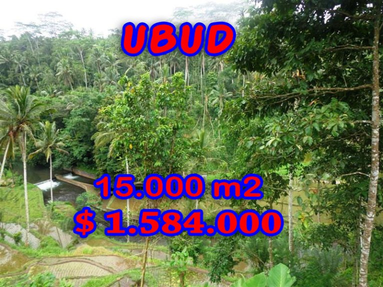 Magnificent Land for sale in Bali, river view in Ubud Tampak Siring Bali – TJUB273