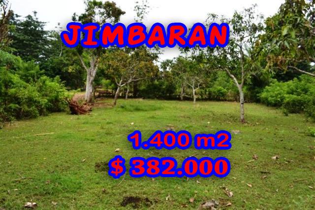 Extraordinary Property for sale in Bali, land for sale in Jimbaran Bali  – 1.400 m2 @ $ 272