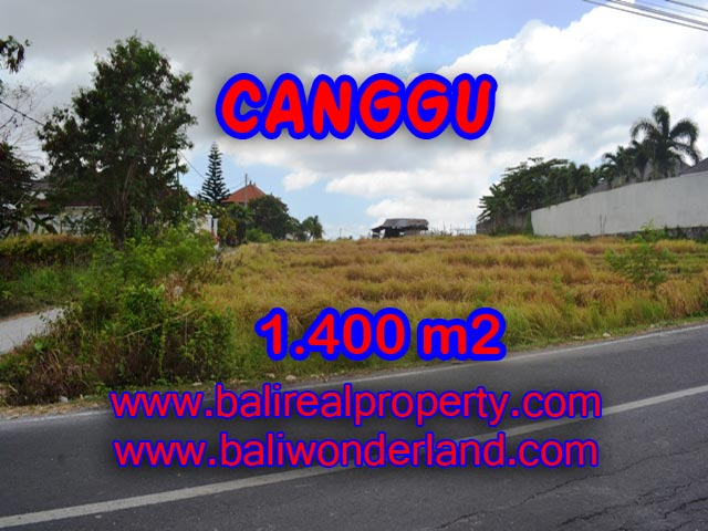Magnificent Property for sale in Bali, land for sale in Canggu Bali  – 1,400 sqm @ $ 983