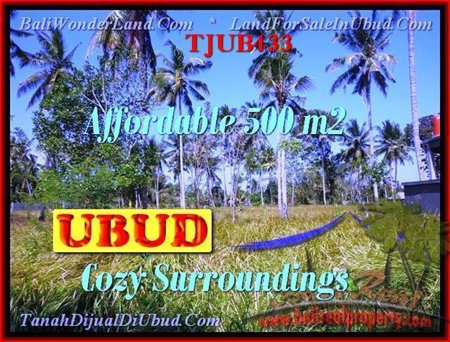 Magnificent PROPERTY UBUD BALI 500 m2 LAND FOR SALE TJUB433