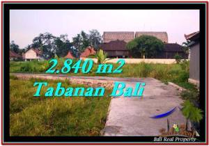 Exotic PROPERTY 2,840 m2 LAND FOR SALE IN Tabanan Tanah Lot TJTB247
