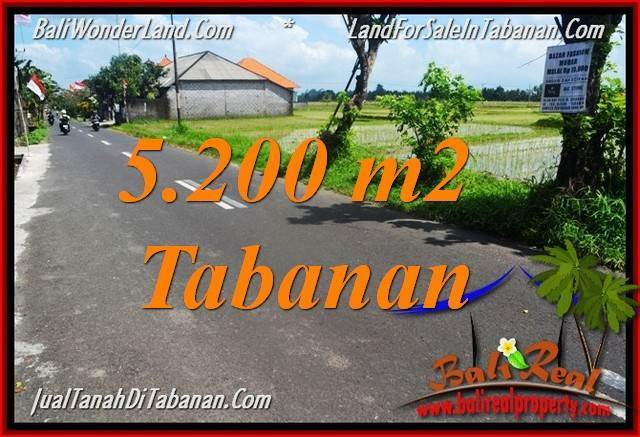 FOR SALE Magnificent PROPERTY 5,200 m2 LAND IN TABANAN TJTB351