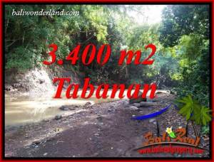 FOR sale Magnificent 3,400 m2 Land in Tabanan Bali TJTB412