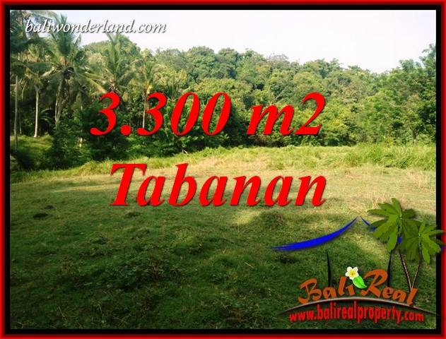 FOR sale Exotic 3,300 m2 Land in Tabanan Bali TJTB413