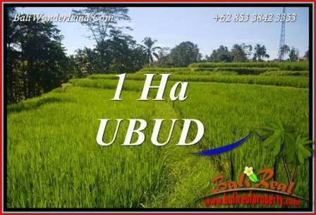 Exotic 10,000 m2 Land in Ubud Tegalalang for sale TJUB715