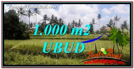 Exotic 1,000 m2 LAND SALE IN UBUD BALI TJUB754