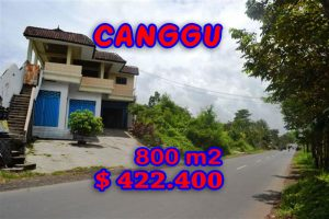 Land for sale in Bali, Extraordinary Rice fields view  in Canggu Cemagi – TJCG094