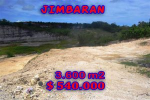 Spectacular Property for sale in Bali, land for sale in Jimbaran Bali  – 3.600 m2 @ $ 150