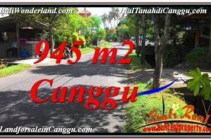 Magnificent Canggu Pererenan 945 m2 LAND FOR SALE TJCG210