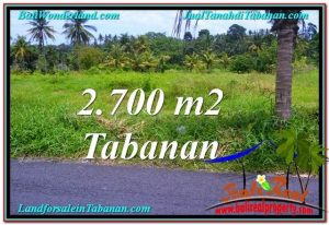 FOR SALE Affordable 2,700 m2 LAND IN TABANAN TJTB301